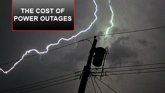 What is the cost of a power outage?